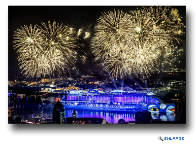 AIDAprima made its debut with a spectacular light show and memorable naming ceremony