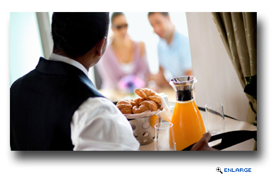 Concierge Class guests receive other luxuries including fresh fruit and sparkling wine