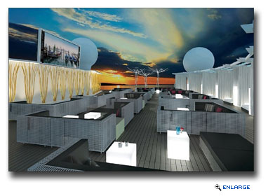 The new, multi-functional Rooftop Terrace will offer guests a relaxing, open space during the day