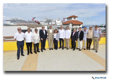 Official opening ceremony for third berth at Carnival Corporation's pier at Puerta Maya in Cozumel, Mexico