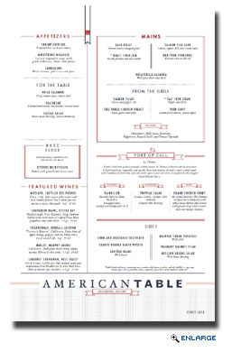 American TABLE, offered on Cruise Casual nights, is designed to evoke a modern restaurant experience with an emphasis on exceptional American cuisine