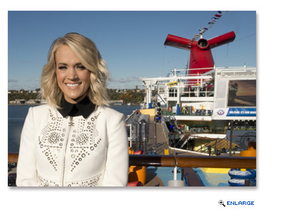 Country music artist Carrie Underwood performs aboard the new Carnival Vista Friday, Nov. 4, 2016, in New York City