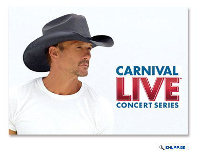 Carnival Cruise Line has announced its initial 2017 Carnival LIVE lineup featuring country music stars Tim McGraw and Little Big Town along with comedians Jay Leno and Jeff Foxworthy