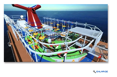 SkyRide is a dual-track, bicycle feature that combines exercise and thrills that debuted on Carnival Vista and will be on board Carnival Horizon as well when it debuts in 2018