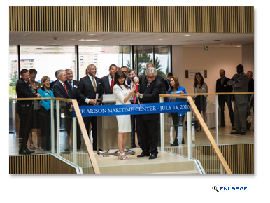 Carnival Corporation & plc Chairman Micky Arison, along with his wife Madeleine, officially opened the company's Arison Maritime Center