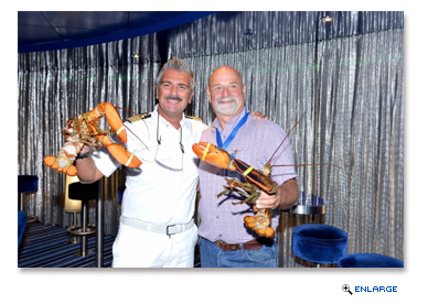 Appropriately enough, port officials also presented several lobsters