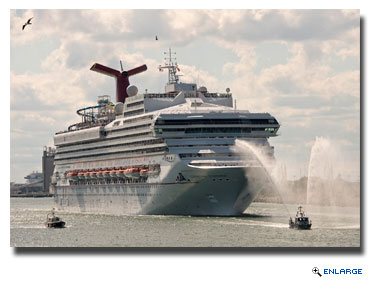 TCarnival Sunshine Sails on Inaugural Caribbean Voyage from Port Canaveral