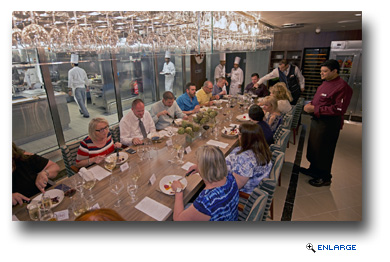 The Chef's Table � This VIP experience starts with cocktails and hors d'oeuvres for an exclusive group of 14 guests,