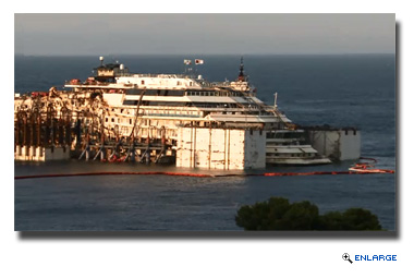 Costa Concordia Refloat Has Begun