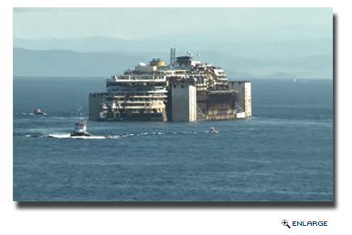 Costa Concordia Begins Final Voyage