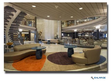 2014 redesign of the Crystal Symphony Crystal Plaza