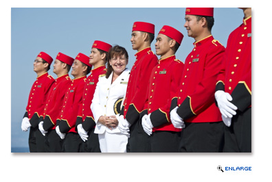 Captain Inger Klein Thorhauge, who helms Cunard ships, is among women with prominent roles at Carnival Corporation.