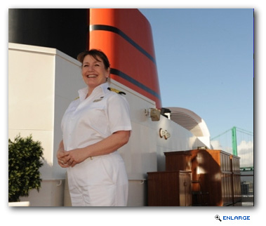 Danish-born Inger Olsen made history on 1 December 2010 by becoming Cunard Line's first female Captain in its 171-year history of sailing luxury cruise vacations.