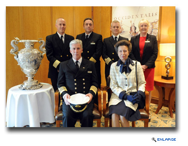 Princess Anne Joins Honoured Guests onboard Queen Mary 2