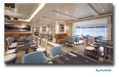 Cunard announced its plans for the major redesign of Kings Court, the relaxed, informal buffet dining experience onboard Queen Mary 2