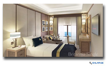 Queen Mary 2 will receive a wide range of upgrades, including 30 new Britannia Club Balcony staterooms and 15 Britannia Single staterooms