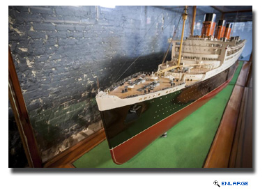 Its centerpiece will be the original Bassett-Lowke shipbuilder's model of the Queen Mary - a spectacular and historically significant model measuring over 20 feet in length and exact in every detail,