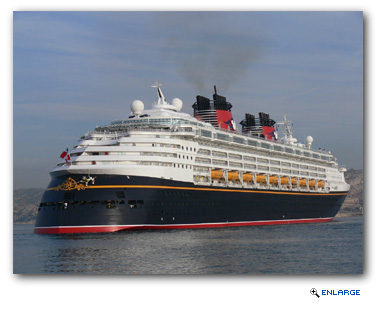 Disney Magic returns to Port Canaveral to join the Disney Dream and the Disney Fantasy through mid-May