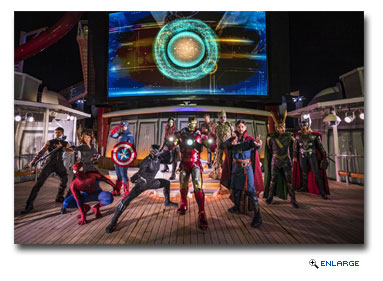 Disney Cruise Line guests will assemble on the Disney Magic to celebrate the epic adventures of the Marvel Universe's mightiest Super Heroes and Super Villains