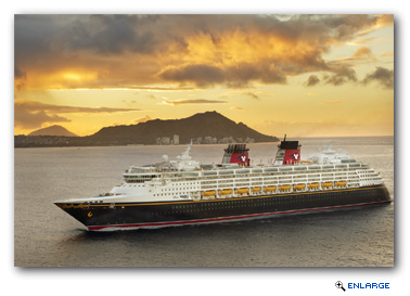 The Disney Wonder will sail through the breathtaking beauty of the Hawaiian Islands, where guests can experience the famous beaches of Waikiki on Oahu