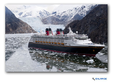 Disney Cruise Line will take guests to Alaska's Icy Strait Point and Hubbard Glacier
