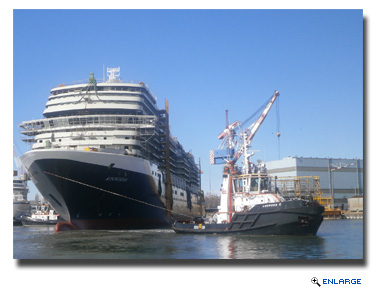 HAL's ms Koningsdam Floated Out at Fincantieri Shipyard