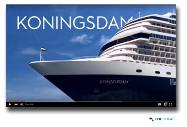 HAL Details Inaugural Season of Newbuild in Second �Countdown to Koningsdam� Video