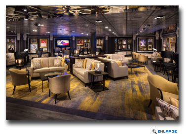 During the dry dock, Eurodam received the line�s first Gallery Bar.