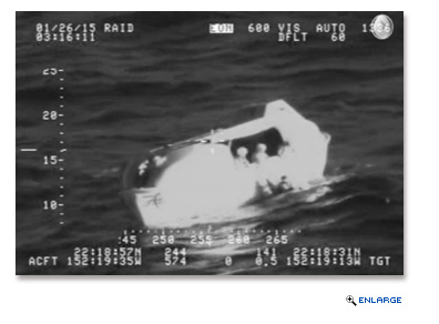 The plane had a parachute system and the pilot was able to safely escape into a life-raft where he was retrieved by Veendam.