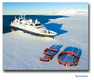 Lindblad Expeditions' guests in Antarctica this week honor Lars-Eric's pioneering vision with a special 50th on the ice