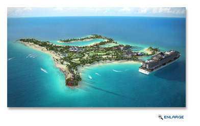Future aerial view of Ocean Cay MSC Marine Reserve