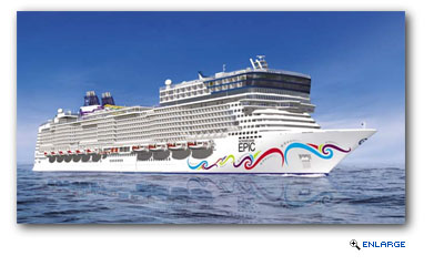 Norwegian Epic Sails Into Barcelona