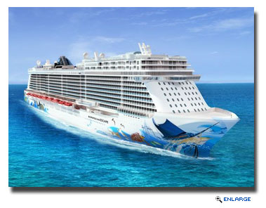 Artist Guy Harvey Unveils His Hull Artwork for Norwegian Escape