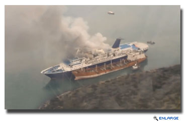 Ocean Countess Damaged By Fire