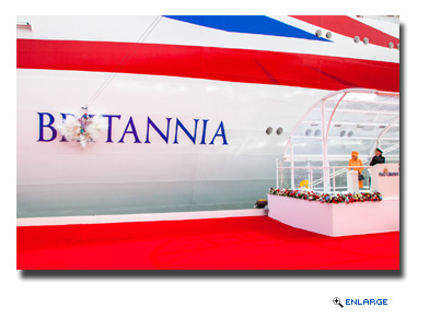 Carnival Corporation & plc celebrated the launch of P&O Cruises UK's newest ship, Britannia, in a naming ceremony held today in Southampton, England