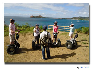 Segway, sights and beach tour in St Lucia
