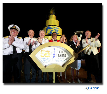 Princess Cruises officially christened the new Regal Princess in a naming ceremony featuring the original cast members of The Love Boat