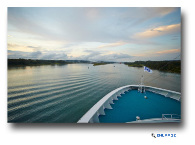 Cruise ship captains and their guests get a front row seat to amazing destinations including the Panama Canal
