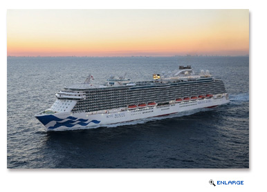 Royal Princess arrives in Ft. Lauderdale with the new brand mark hull design