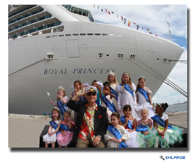 New Princess Ship Receives Royal Welcome to Ft. Lauderdale
