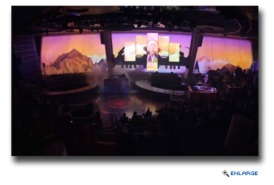 Spectras Cabaret � This completely original production, created by Royal Caribbean International and Moment Factory