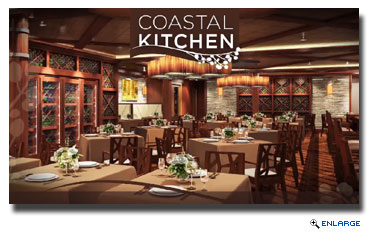 Coastal Kitchen, a concept created exclusively for suite guests, fusing Mediterranean influences with the unmatched riches of California's bountiful farmlands.