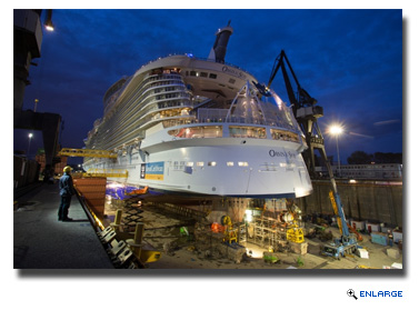 Oasis of the Seas, at Rotterdam, the Netherlands, during her 14-day drydock