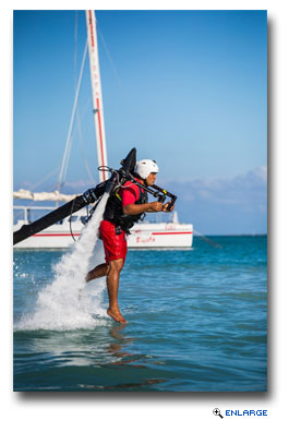 The thrilling Jetlev, a water-propelled jetpack, lets you and your adrenaline-seeking teens fly over the ocean and soar through the air.
