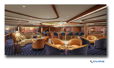 Seabourn Offers First Glimpse Of TThe Observation Bar On Board Seabourn Encore