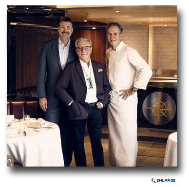 Richard Meadows, President of Seabourn; Adam Tihany, designer for The Grill; Chef Thomas Keller