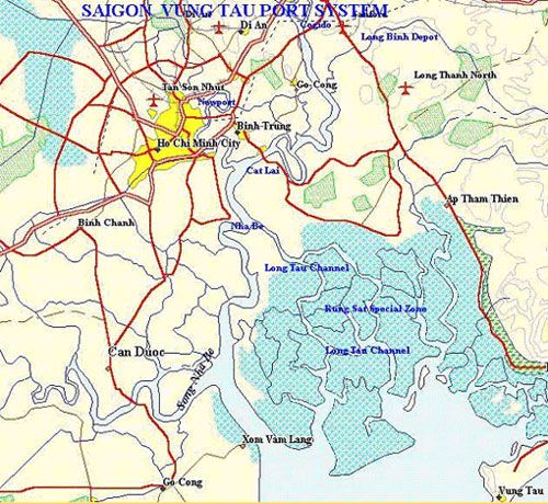 Ho Chi Minh City Port Map